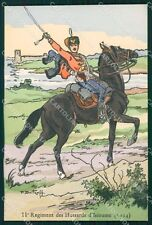 Military Russia Russian Soldier Horse Dmitroff Isioume Hussars postcard XF3618