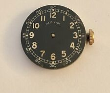 Hamilton 987A Movement with Black Military Dial - sold as is