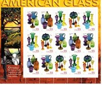 American Glass 3325-3328 33 cent Mint NH Stamp Sheet 1999 Free Shipping