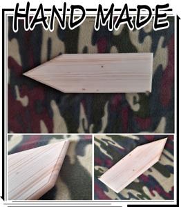 Plain HARD WOOD Arrow Plaque Sign PLAIN Blank  ANY SIZE AVAILABLE S1