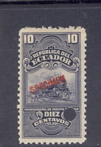 Ecuador 1900?, 10c fiscal or revenue, train vignette, from Am. Banknote archives
