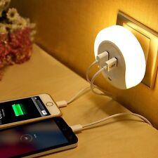Vielseitigkeit Lichtsteuerung Sensor LED-Nachtlicht warmweiß Doppel USBLadegerät