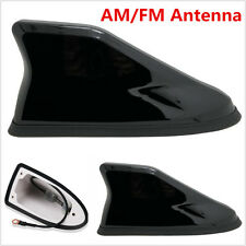 Universal Car Auto Roof Shark Fin Strong Radio AM/FM Signal Aerial Antenna Black
