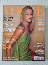 Magazine mode fashion VOGUE PARIS #798 juin juillet 1999 cover Carolyn Murphy