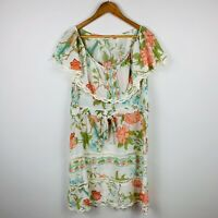 Binny Silk Womens Dress Size 10 Floral Nature Print Gorgeous Design
