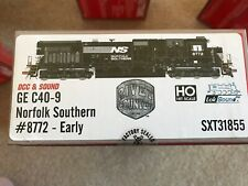 "Ns Norfolk Southern Railway Scale Trains ""Rivet Counter� Ge C40-9 #8772 Dcc/Soun"