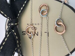 Links of London 20/20 station necklace long silver rose gold vermeil rings
