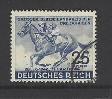 NAZI GERMANY # B-204 Used  BLUE RIBBON HAMBURG DERBY, HORSE RACING