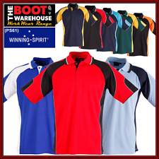 Mens 'Alliance CoolDry' Tri-Colour POLO SHIRTS  Workwear Sports Work Team (PS61)
