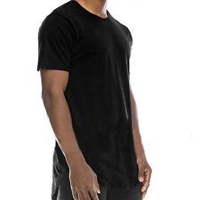 Basic Longshirt T-Shirt Long Oversize Herren Langes Kurzarm Tee Freizeitshirt XL