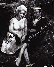 NORMAN WISDOM & LIZ FRASER - Signed 10x8 Photograph - FILM COMEDY