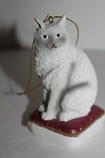 American Short hair Cat Sitting on Pillow - Christmas Ornament - New
