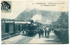 CPA - Carte Postale - France - Cherbourg - L'Arrivée du Train en Gare et la Mont