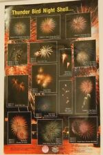 Vintage Hop Kee Pyrotechnics Fireworks Thunder Bird Shell Poster
