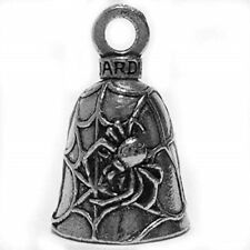 guardian black widow spider on web motorcycle biker luck gremlin riding bell