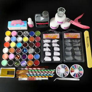 Coscelia Full DIY Acrylic Art Kit Set Acrylic Powder Liquid Nail Tips Sticeker