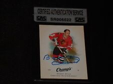 HOF BOBBY HULL 2008-09 UD CHAMPS SIGNED AUTOGRAPHED CARD #7 CAS AUTHENTIC