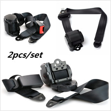 2pcs Seat Belt 3 Point Seatbelt Retractable Lap Seat Belt For Car Truck Pickup