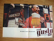 1965 Schlitz Beer Ad One Pitcher is worth a 1000 Words