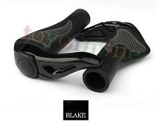 MTB Folding Bike Handlebar Rubber Grip Black Gray Aluminum Barend