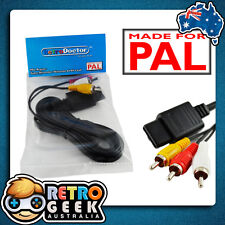 PAL N64 Super Nintendo RCA AV Cable -Video Lead 4 Original SNES Console gamecube