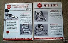 Gilbert 1960 Science Toys Physics Sets Flyer D2188