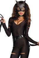 Sexy Cat Woman Super Hero Justice League Avengers DC Halloween Costume 8 10 12