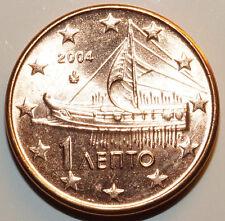 Griechenland 1 Cent / Lepto 2004 mit Schiffsmotiv Greece Greek Cent coin w. ship