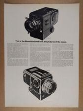 1969 Hasselblad 500EL Space Moon Camera vintage print Ad