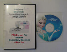 139,877 Brother PES Formato EMBROIDERY DESIGNS 4 Disco Conjunto en caja + diseño congelado CD