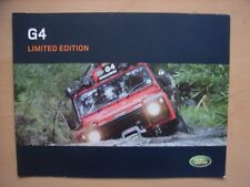 Land Rover Defender + discovery g4 Limited Edition folleto/brochure, d, 2003