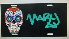 Personalized Sugar Skull License Plate Car Tag Name Custom Graffiti Pick Colors