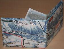 Ski Snowboard Piste Carte TYVEK WALLET