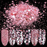 10ml Nail Art Glitter Powder Sequins Rose Pink 1/2/3mm Paillette  Decor