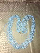 Nuevo Collar De Piedras Preciosas Perlas Azul Turquesa