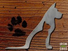 Dog & Cat Metal Wall Art Pet Puppy Kitten Silhouette Cutout Sign Stencil House
