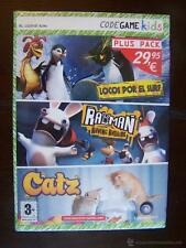 PC PLUS PACK (3 JUEGOS) - LOCOS POR EL SURF + RAYMAN RAVING RABBIDS + CATZ - NUE