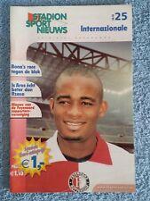 2002 - Feyenoord v Inter Milan Programme - Uefa Cup Semi Final 2Nd Leg - 01/02