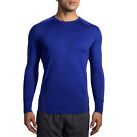 Brooks Mens Dash Base Running Top Blue Sports Breathable Lightweight