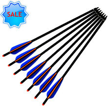 Crossbow Bolts Archery Aluminum Arrows with Filed Tips Half Moon Nocks 20Inch