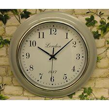 Horloge murale Londres gris 32cm Horloge de gare Montre de bureau Design-Rétro