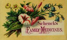 Schenck's Mandrake Pills Pulmonic Syrup Seaweed Tonic Family Medicines F85