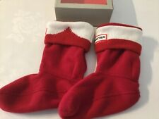 New Kids Hunter Boot Socks Red And White M 10-12