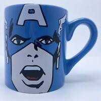 MARVEL Captain America Blue 12oz Coffee Mug Hot Cocoa Cup