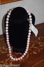 """NWT Leakey Collection Natural Elegance Porcelain & Sterling Silver Necklace 29"""""""