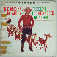 Vtg Rudolph the Red Nosed Reindeer Gene Autry Lp Record Christmas Holiday Music