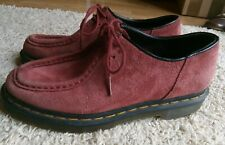 Ladies Dr Martens Airwair Redford Pink Suede Creeper Lace Up Shoes Size 6
