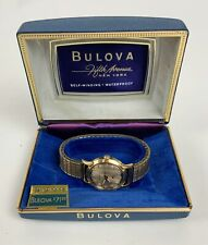 Vintage Bulova Sea King Automatic wristwatch with case Whale dial 17J