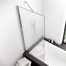 Parete vasca 75 cm reversibile in cristallo trasparente anticalcare box paratia