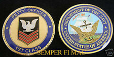 1ST CLASS PETTY OFFICER US NAVY CHALLENGE COIN PO1 USS CROW NAS NAF NS USN WOW!